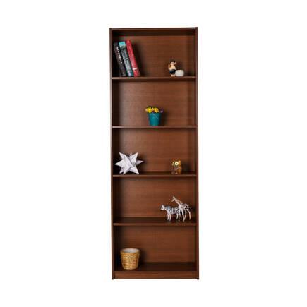 Modern 5 Raflı Kitaplık - İspanyol Ceviz - Thumbnail