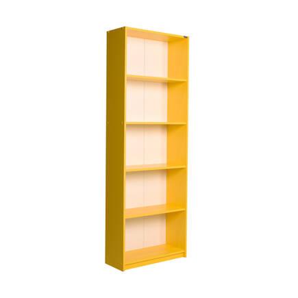 Adore Mobilya - Modern 5 Raflı Kitaplık - Sarı