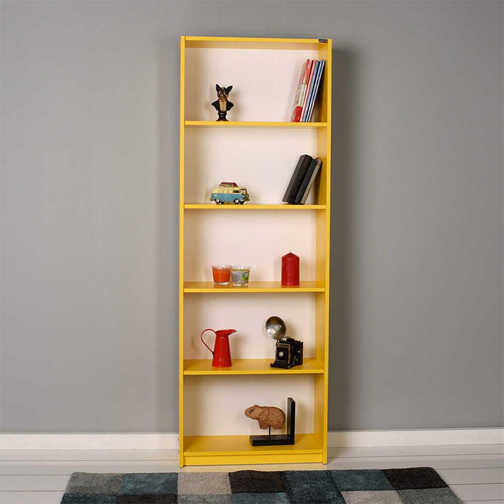 Modern 5 Raflı Kitaplık - Sarı