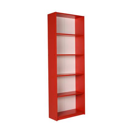 Adore Mobilya - Modern 5 Raflı Kitaplık - Kırmızı