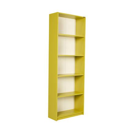 Modern 5 Raflı Kitaplık - Yeşil - Thumbnail