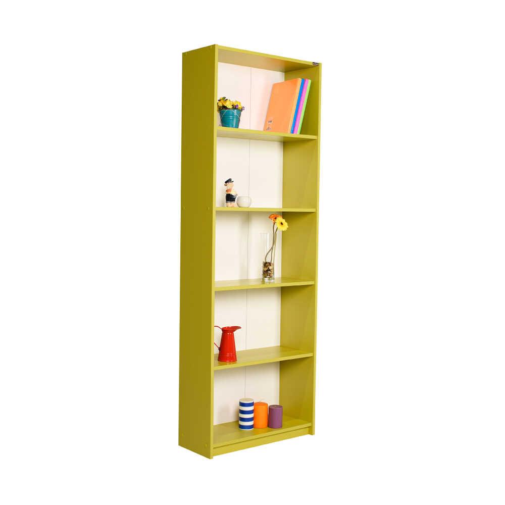 Modern 5 Raflı Kitaplık - Yeşil