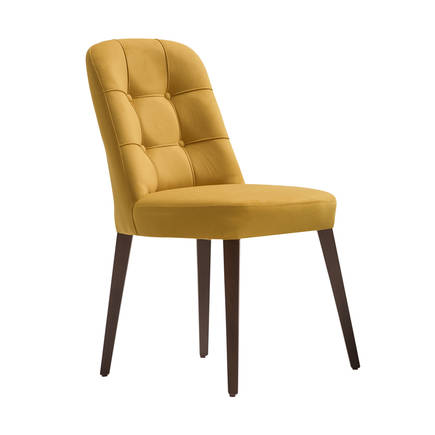 Adore Mobilya - Navona Masif Sandalye-Sarı/Gri
