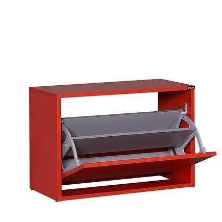 Adore Mobilya - New Step Oturaklı Ayakkabılık - Kırmızı