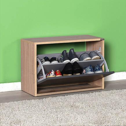 New Step Oturaklı Ayakkabılık - Sonoma-Antrasit - Thumbnail