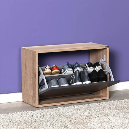New Step Oturaklı Ayakkabılık - Tori-Antrasit - Thumbnail
