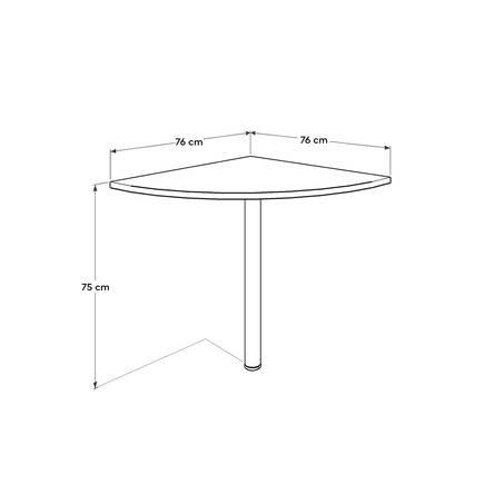 Newyork Ofis Masası Köşe Dönüş - Latte - Thumbnail
