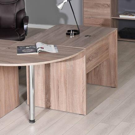 Newyork Ofis Masası Köşe İlave/PC Masası - Latte - Thumbnail