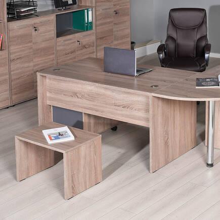 Newyork Ofis Masası - Latte - Thumbnail