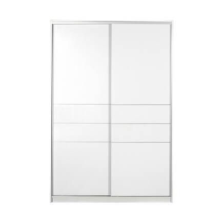Platinum Plus Sürgü Kapılı Gardırop - Beyaz - Thumbnail