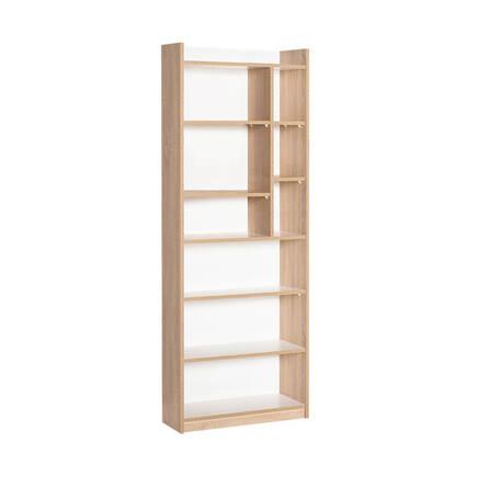 Adore Mobilya - Plus 10 Raflı Bölmeli Kitaplık - Sonoma-Diamond Beyaz