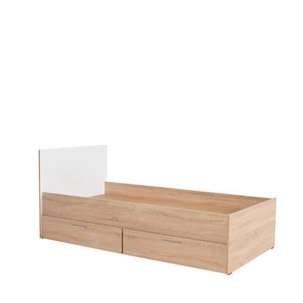 Adore Mobilya - Plus Çekmeceli Tek Kişilik Karyola - Sonoma-Diamond Beyaz