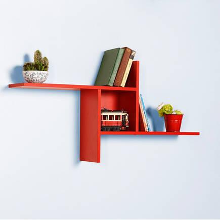 Plus Dekoratif Duvar Rafı - Kırmızı - Thumbnail
