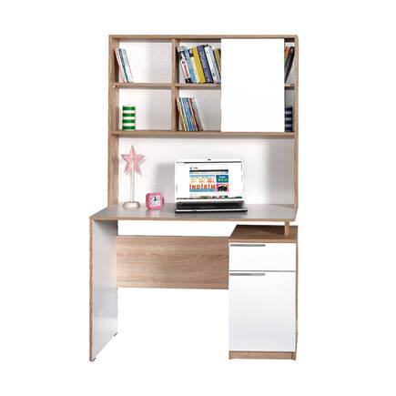 Plus Üniteli Çekmeceli Çalışma Masası - Sonoma-Diamond Beyaz - Thumbnail