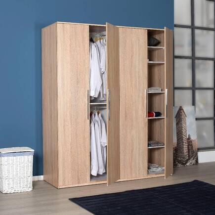Prestige Yatak Odası 4 Kapılı Gardırop - Sonoma - Thumbnail
