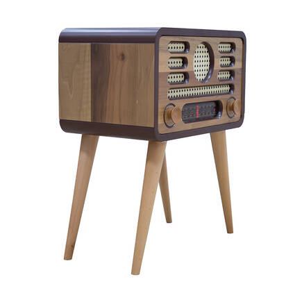 Adore Mobilya - Radyo Sehpa-Ceviz