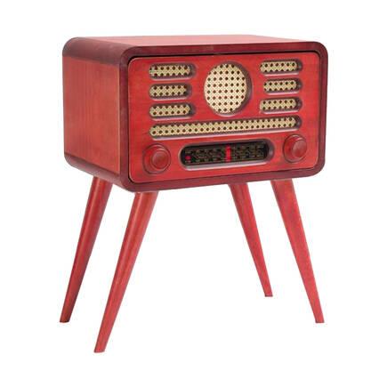 Adore Mobilya - Radyo Sehpa-Kırmızı