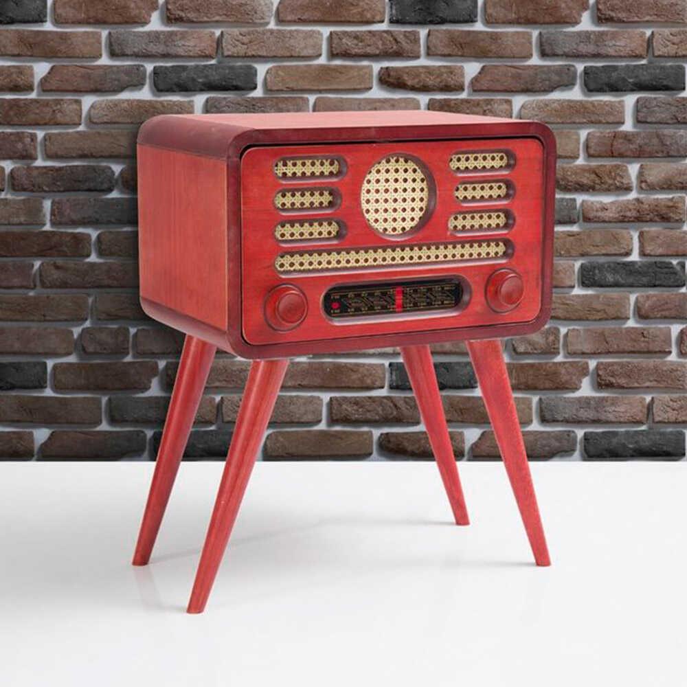 Radyo Sehpa-Kırmızı