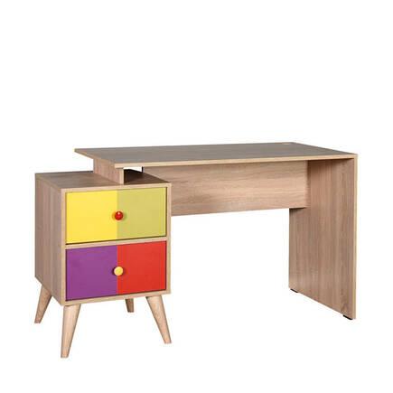 Adore Mobilya - Rainbow Genç Odası 2 Çekmeceli Çalışma Masası - Sonoma-Karışık