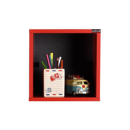 Rainbow Genç Odası Duvar Rafı-Kırmızı - Thumbnail