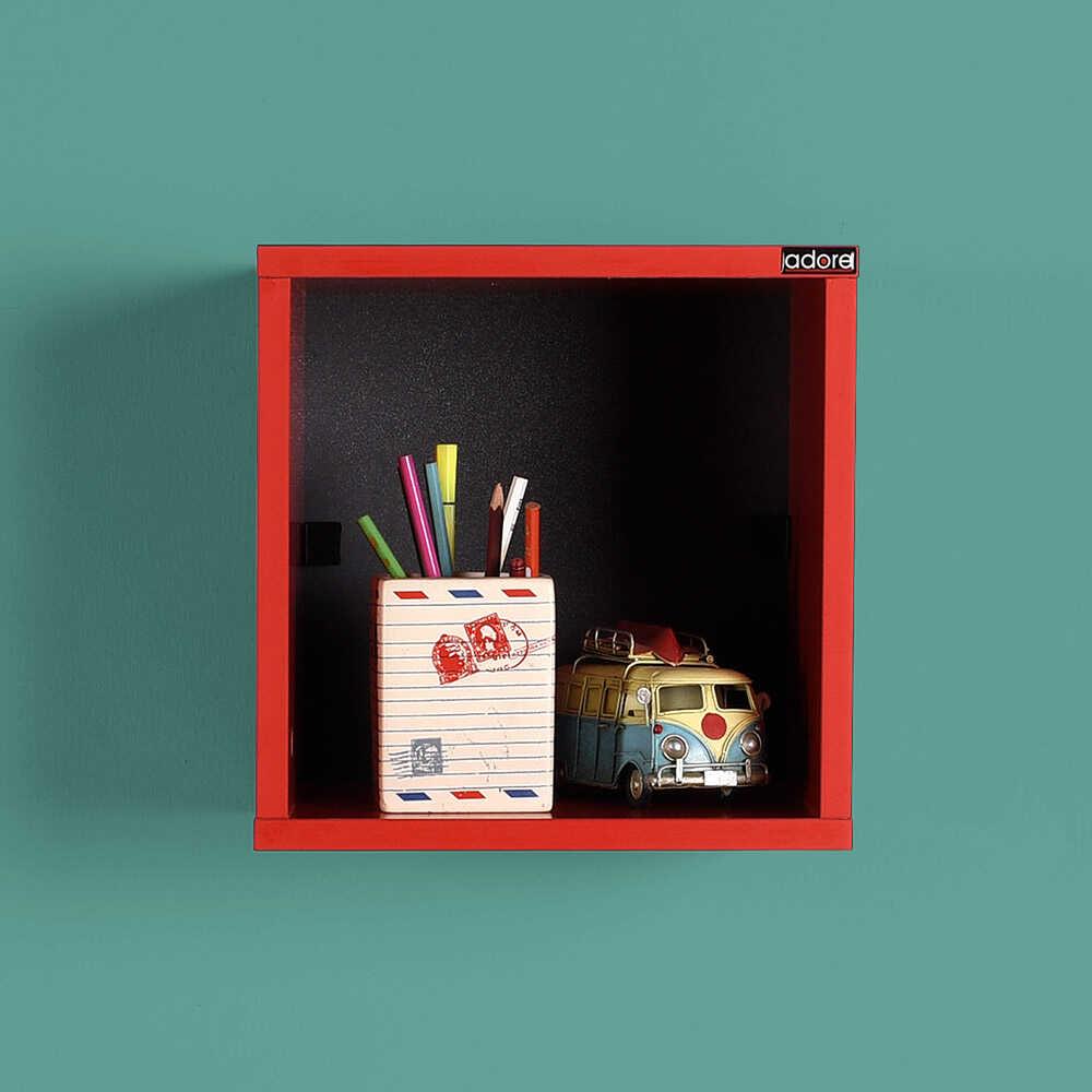 Rainbow Genç Odası Duvar Rafı-Kırmızı