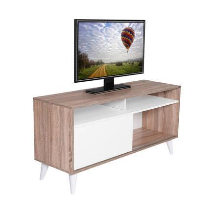 Adore Mobilya - Retro Slide Tv Sehpası Latte-Diamond Beyaz