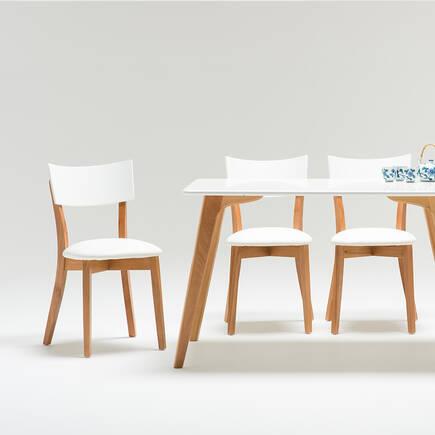 Sofia Masif Sandalye-Beyaz - Thumbnail