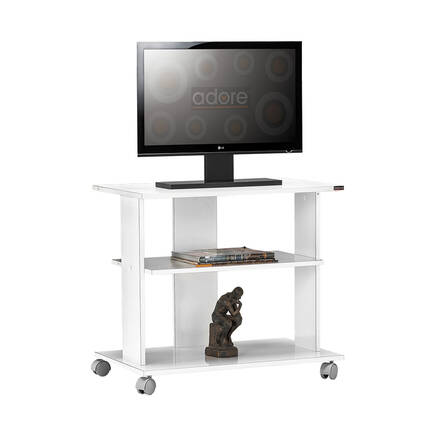Adore Mobilya - Süper Multimedya TV Sehpası - Lake Beyaz