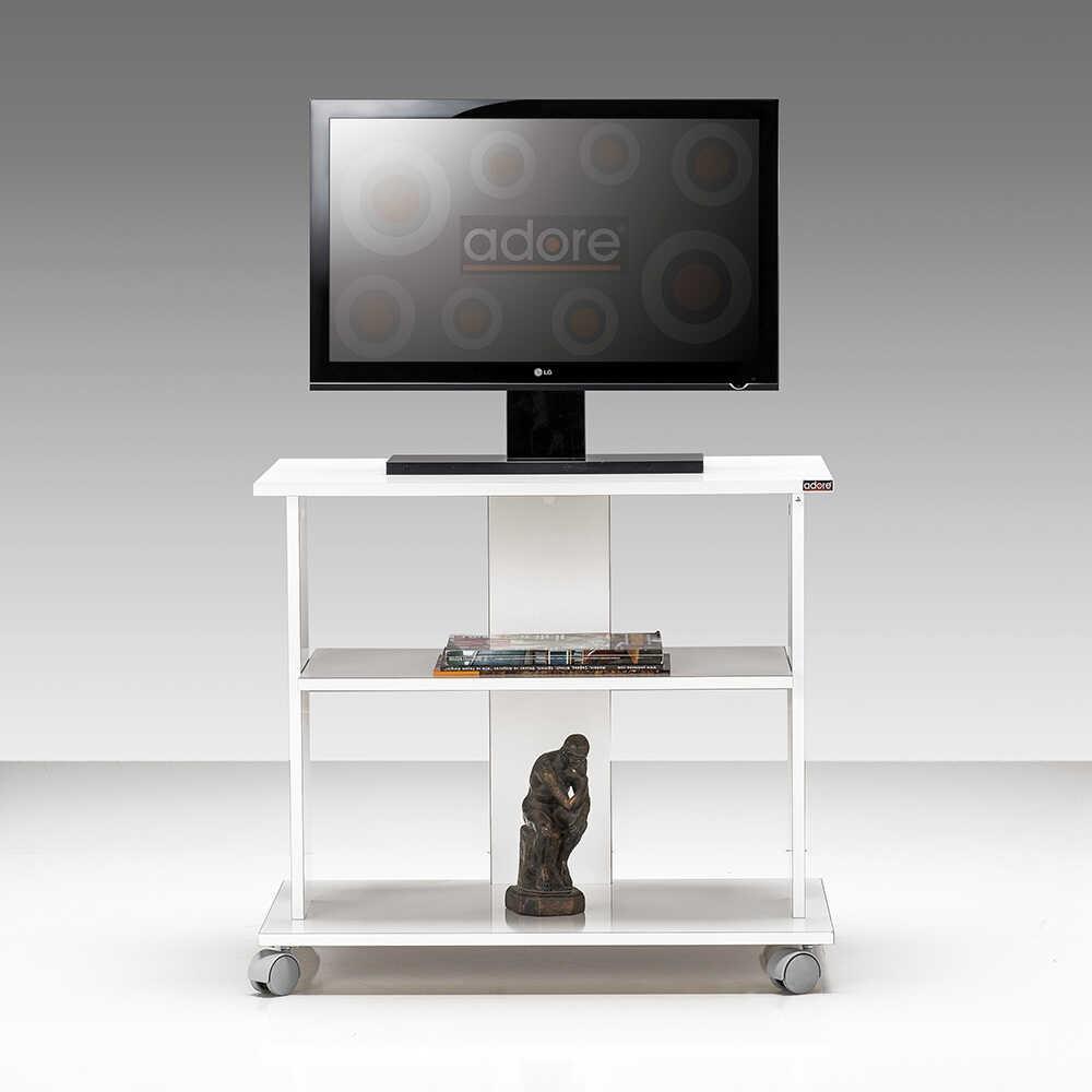 Süper Multimedya TV Sehpası - Lake Beyaz