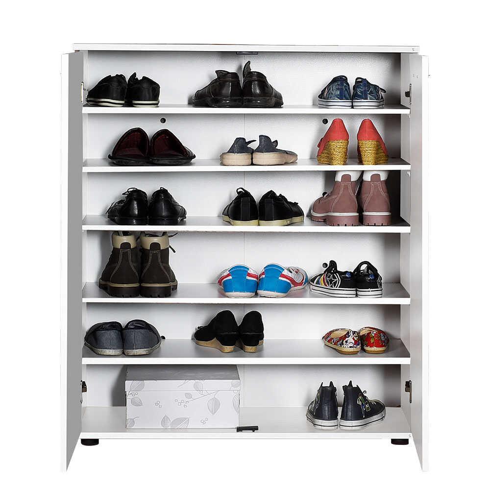 Trendline 2 Kapaklı 5 Raflı Çok Amaçlı Ayakkabılık - Beyaz