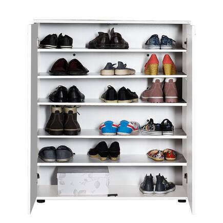 Trendline 2 Kapaklı 5 Raflı Çok Amaçlı Ayakkabılık - Beyaz - Thumbnail