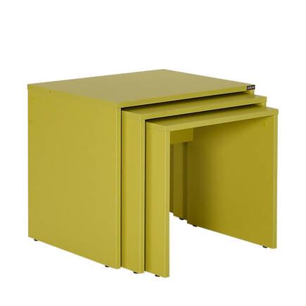 Adore Mobilya - Triple Zigon Sehpa - Yeşil