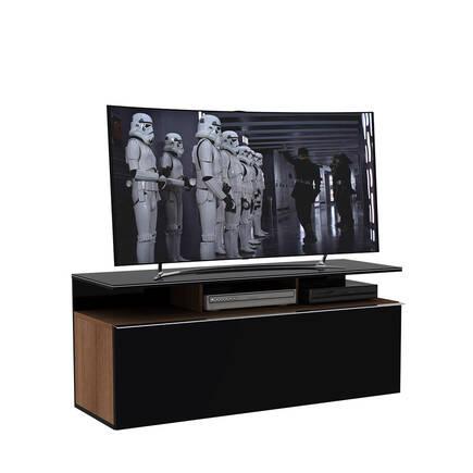 Adore Mobilya - Vision Çekmeceli TV Sehpası Noce - Lake Siyah