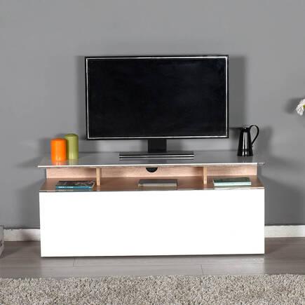 Vision Çekmeceli Tv Sehpası - Sonoma-Lake Beyaz - Thumbnail