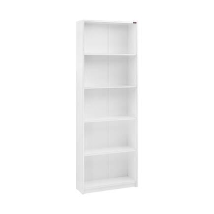 Adore Mobilya - Modern 5 Raflı Kitaplık - Lake Beyaz