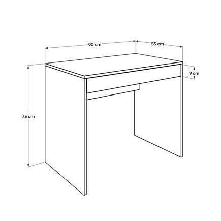 Çekmeceli Çalışma Masası - Oslo Ceviz - Thumbnail