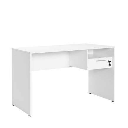Adore Mobilya - Concept Kilitli Çekmeceli Çalışma Masası - Diamond Beyaz