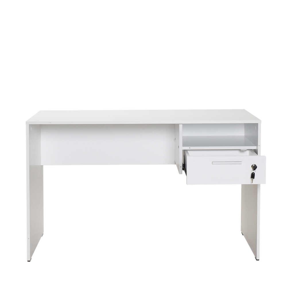 Concept Kilitli Çekmeceli Çalışma Masası - Diamond Beyaz