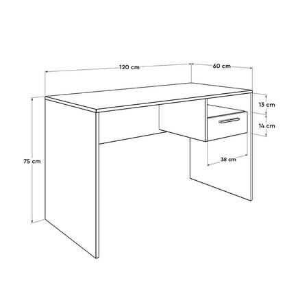 Concept Kilitli Çekmeceli Çalışma Masası - Oslo Ceviz - Thumbnail