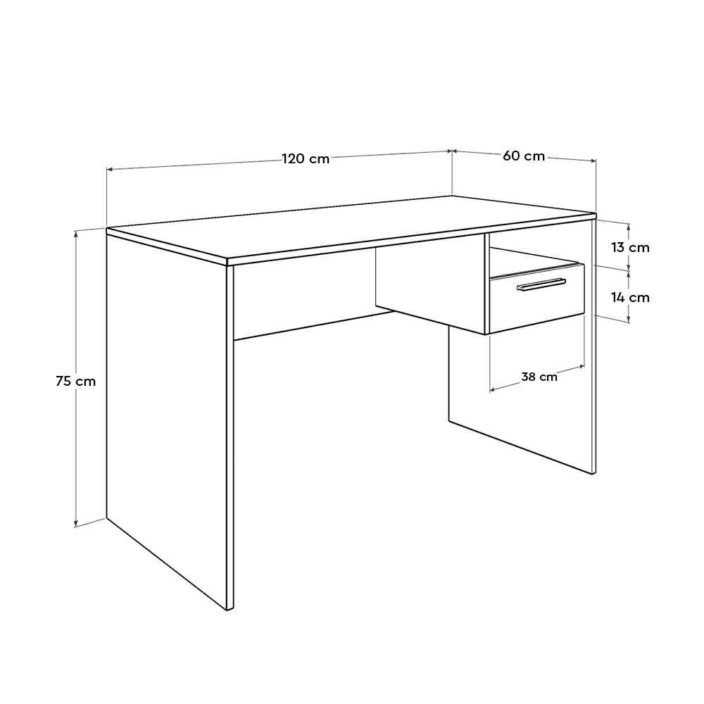 Concept Kilitli Çekmeceli Çalışma Masası - Tori