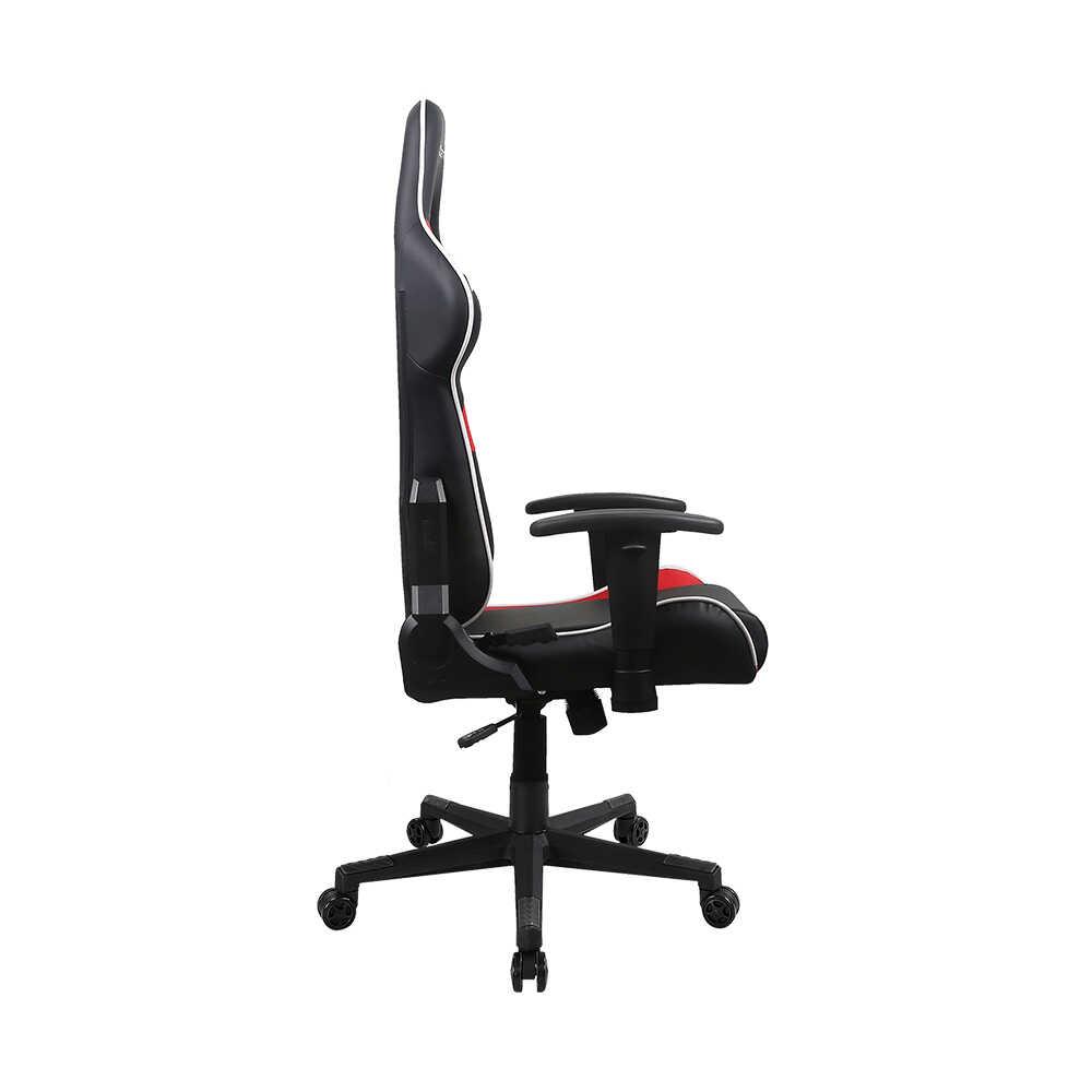 DXRacer Prince Serisi Profesyonel Çalışma ve PC Oyun Koltuğu - Siyah Kırmızı Beyaz