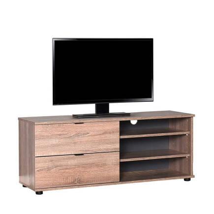 Adore Mobilya - Flat Line Plus İki Çekmeceli Üç Bölmeli Tv Sehpası - Latte
