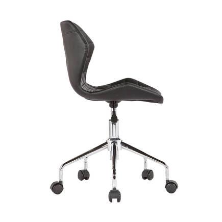 Handy Mate Retro Çalişma Sandalyesi - Siyah Suni Deri - Thumbnail