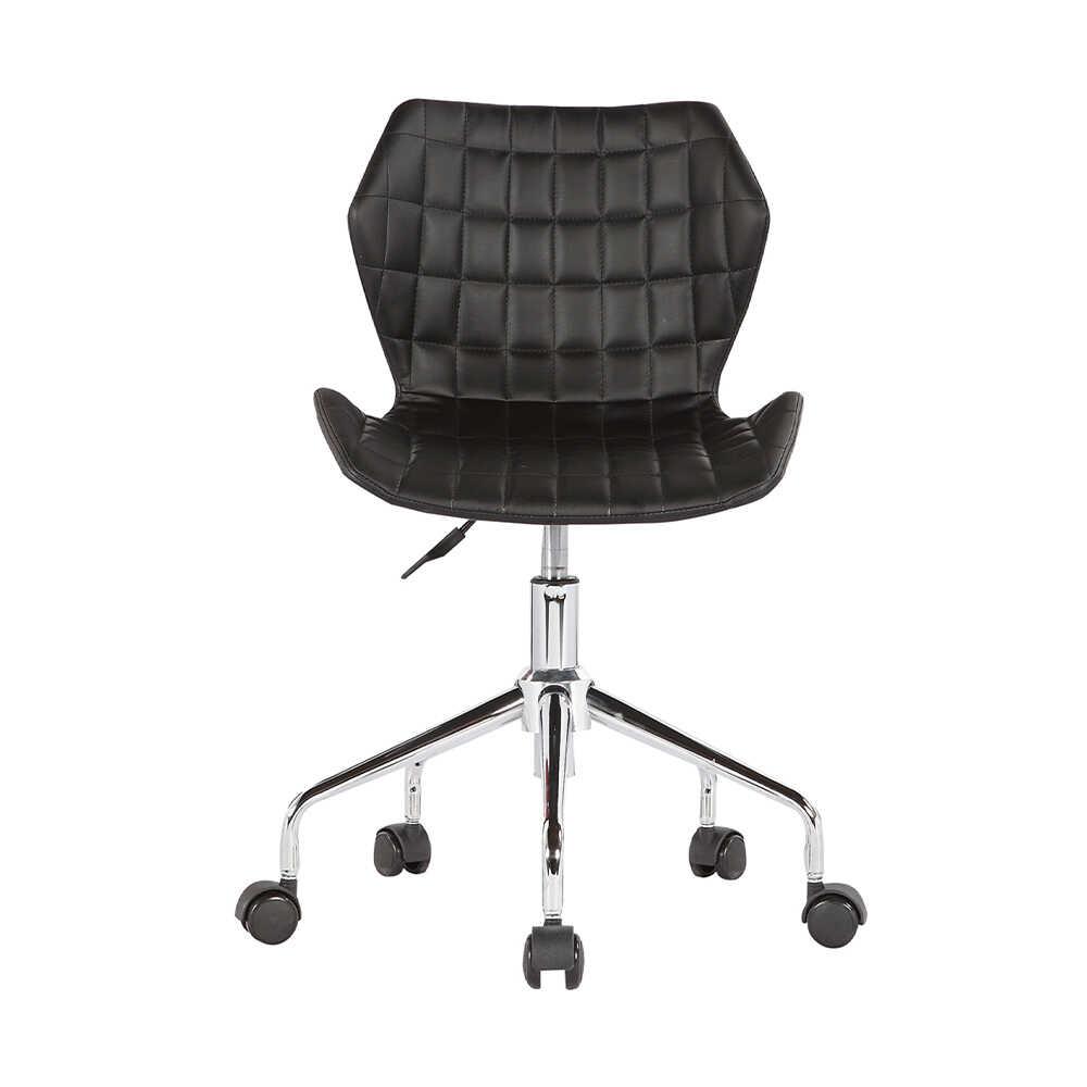 Handy Mate Retro Çalişma Sandalyesi - Siyah Suni Deri