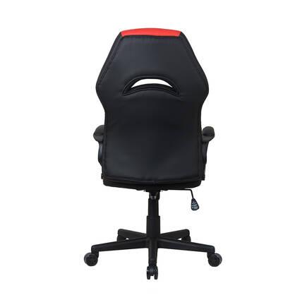 Max Racing Pilot Oyuncu Koltuğu Siyah - Kırmızı - Thumbnail