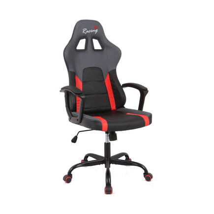 Max Racing Speed Oyuncu ve Çalışma Koltuğu - Siyah Gri Kırmızı - Thumbnail