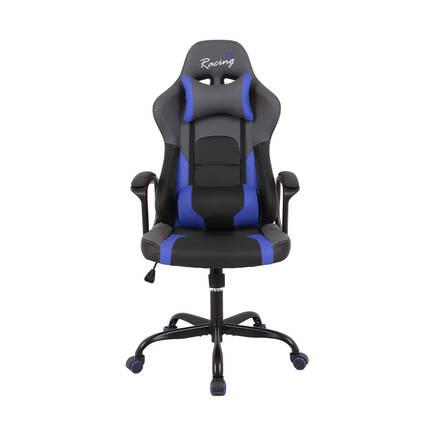 Max Racing Speed Oyuncu ve Çalışma Koltuğu - Siyah Mavi - Thumbnail
