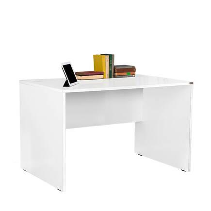 Newyork Geniş Ofis Çalışma Masası - Diamond Beyaz - Thumbnail