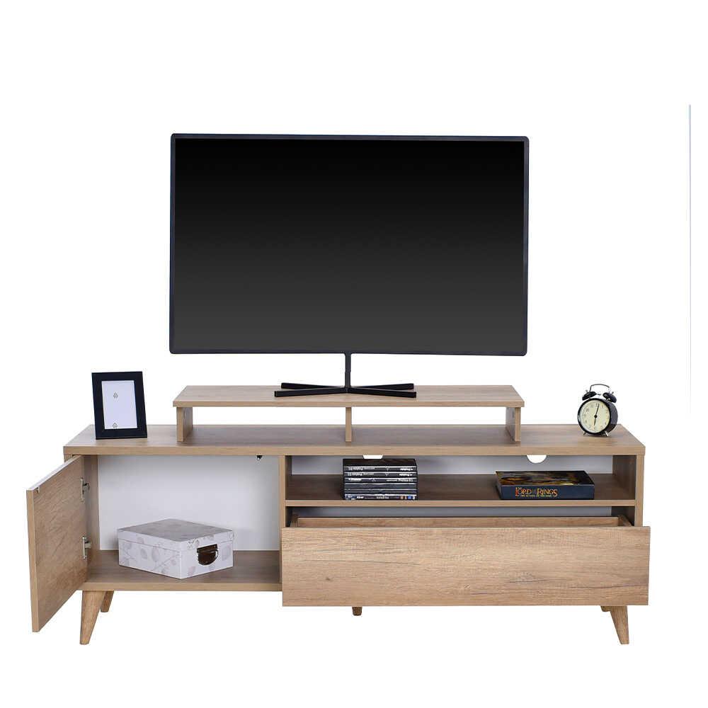 Retro Wide Kapaklı Çekmeceli Tv Sehpası - Tori
