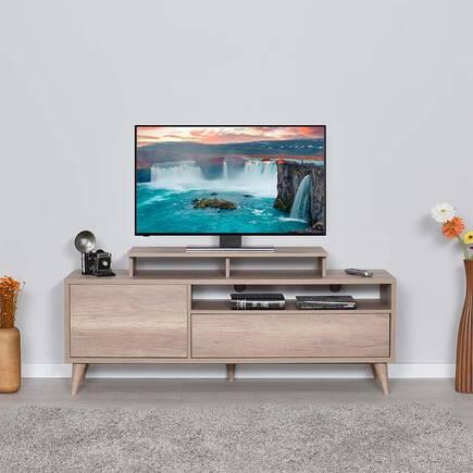 Retro Wide Kapaklı Çekmeceli Tv Sehpası - Tori - Thumbnail